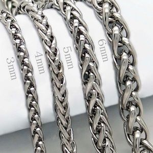 3mm/4mm/5mm Stainless Steel Wheat Braided Chain